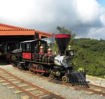 See the cloud forest uniquely by old-fashioned train