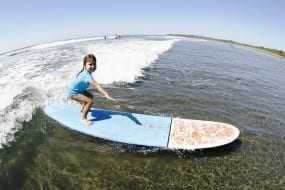Surfing is kids' play in Costa Rica