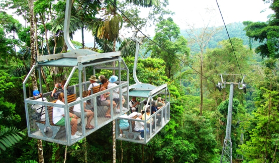 Aerial tram at Veragua Rainforest Adventure Park near Limon, Costa Rica