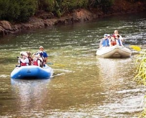 Enjoy an Arenal safari float adventure on the Penas Blancas River in Costa Rica