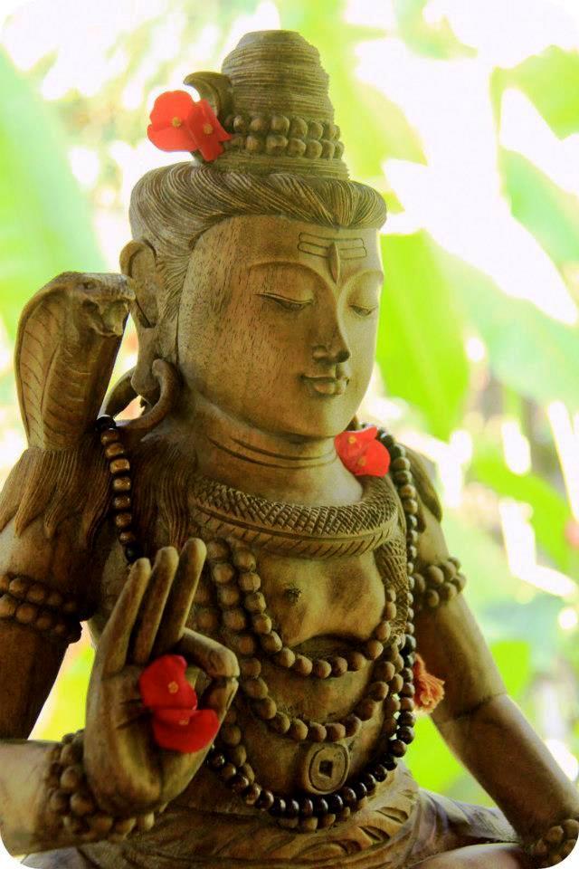 Hindu god Shiva at Pranamar Villas yoga shala in Costa Rica