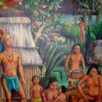 Painting of Chorotega Indian community near Nicaragua-Costa Rica border