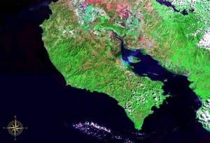 NASA image of Nicoya Peninsula, Costa Rica, Central America