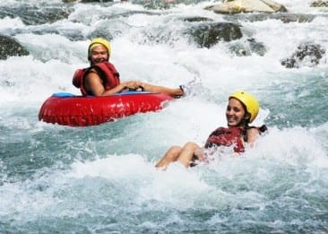 River tubing fun in Costa Rica