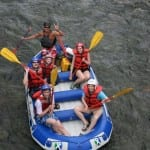 Family rafting on Pejibaye River