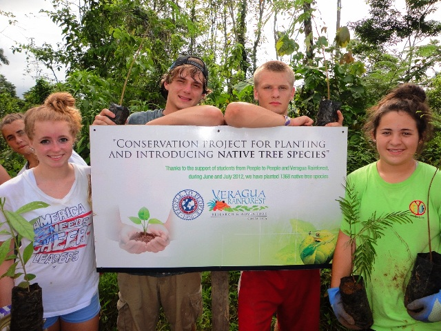 People to People project at Peje Union School with Veragua Rainforest