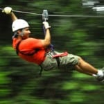 Canopy tour at Hacienda Guachipelin in Costa Rica