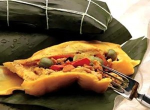 Costa Rican tamal, traditional Christmas dish