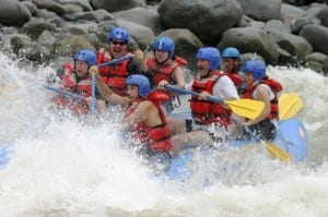 Rafting excitement in Costa Rica