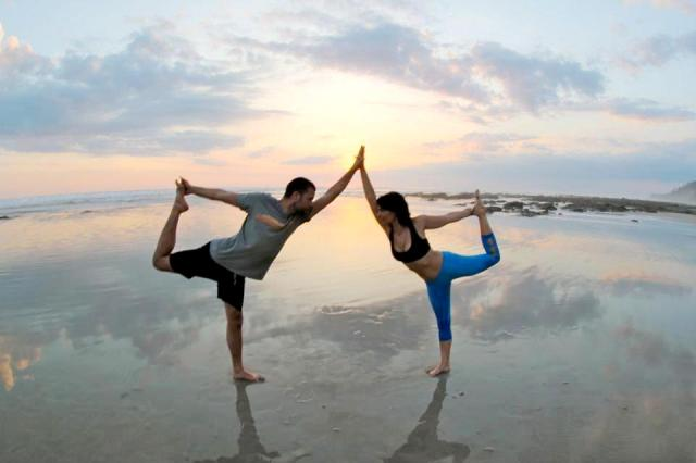 Pranamar yoga on the beach at Santa Teresa