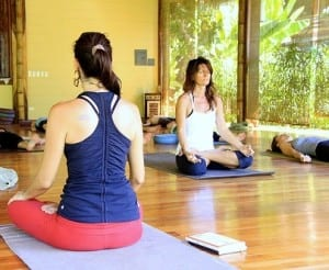 Yoga and meditation at Pranamar Villas