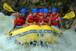 Costa Rica whitewater rafting at Arenal Volcano