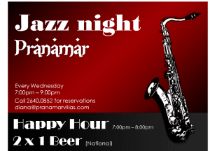 Jazz nights at Pranamar