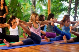 Yoga lessons at Hotel Tropico Latino