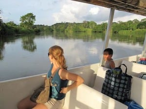 Boat trip on San Carlos River at Maquenque Lodge