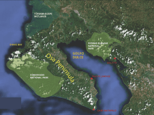 Osa Peninsula map, courtesy of Osa Conservation