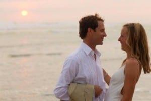 Wedding beach sunset Santa Teresa