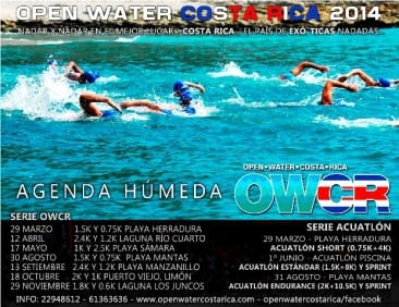 Costa Rica open water swim race at Samara Beach on May 17
