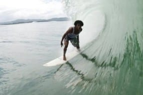 Surfing the southern Caribbean Coast of Costa Rica