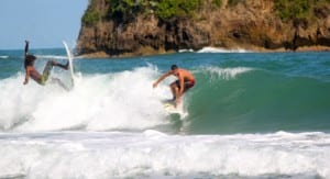 Surfing Playa Cocles Costa Rica