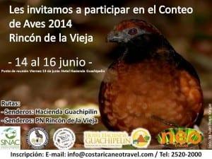 Bird Count Rincon de la Vieja 2014