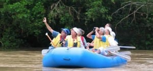 Rafting on Tres Amigos River at Maquenque Lodge