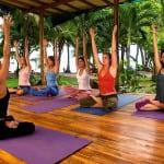 Yoga beachfront at Hotel Tropico Latino
