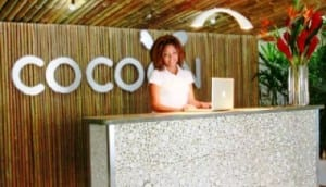 Cocoon hotel lobby
