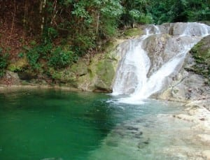 Bridal Veil Waterfall and pool