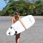 Women surfers in Costa Rica