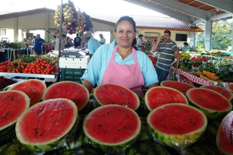 The famous Friday Farmers' Market in Atenas Costa Rica
