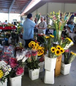 Fresh flowers at the Atenas Costa Rica market