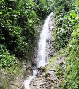 Canyoneering waterfall in Arenal Costa Rica