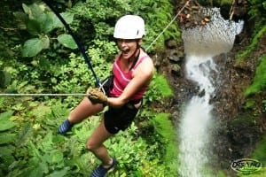 Canyoneering waterfall rappeling in Arenal Costa Rica