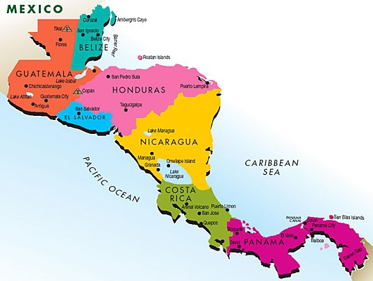 Costa Rica Central America Map MAP - Map of costa rica central america