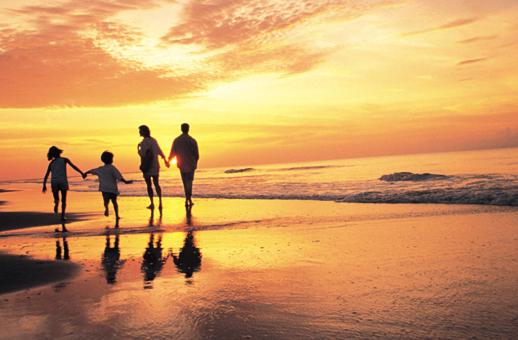 Family travel to beach Costa Rica