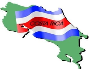 Independence Day Costa Rica map