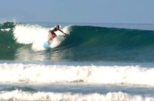 Surfing at Hotel Tropico Latino