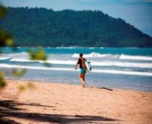 Surfing at Hotel Tropico Latino, Santa Teresa