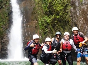 Waterfall jumping is next extreme adventure tour in Arenal Costa Rica