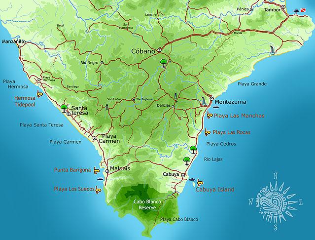 The best ways to get to Santa Teresa Costa Rica