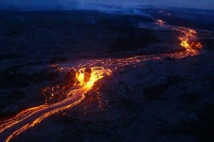 Volcano Kilauea in Hawaii, image by USGS