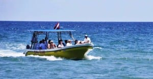 Zuma Tours boat taxi from Jaco to Montezuma