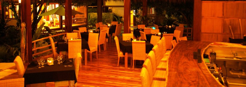 Budda Eyes Restaurant at Pranamar Villas in Costa Rica