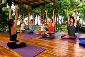 Yoga beachfront at Hotel Tropico Latino