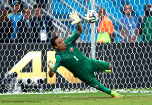 Keylor Navas in 2014 World Cup (keylornavas.com)