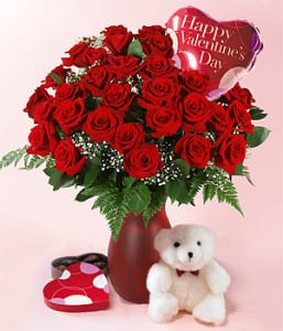 Valentine's Day roses and gifts