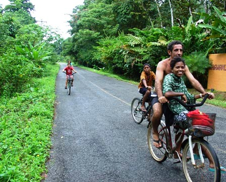 Biking is how to get around Puerto Viejo Costa Rica