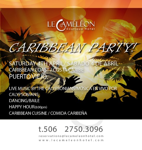 Caribbean party at Le Cameleon Hotel
