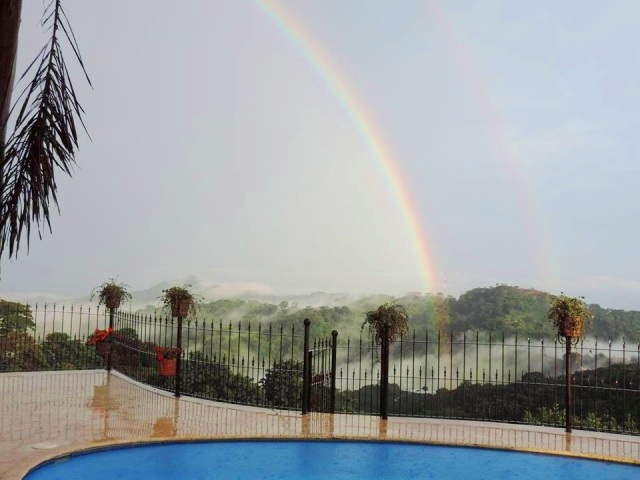 End of the rainbow in Atenas Costa Rica
